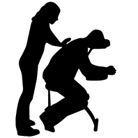 Massage assis habillé sur chaise ergonomique